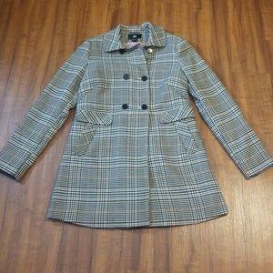 H & M Plaid Swing Coat